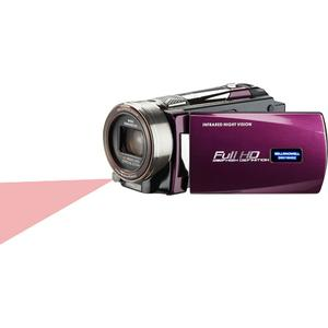 Bell And Howell DNV16HDZ 1080p HD Video Camera Camcorder with Infrared Night Vision (Maroon)