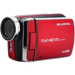 Bell and Howell DV30HD 1080p HD Video Camera Camcorder-Red -
