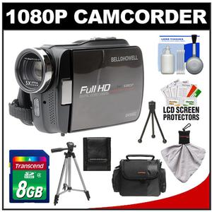 Bell & Howell DV5HDZ ZoomTouch 1080p HD High Definition Digital Video Camcorder & Case with 8GB Card + Case + Tripod + Cleaning Accessory Kit