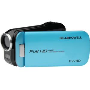 Bell and Howell Slice2 DV7HD 1080p HD Slim Video Camera Camcorder-Blue -