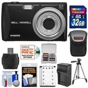 Bell and Howell S40HDZ Digital Camera (Black) with 32GB Card and Battery and Charger and Case and Tripod and Kit