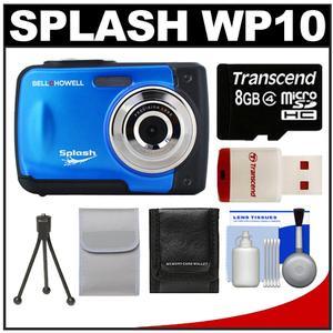 Bell & Howell Splash WP10 Shock & Waterproof Digital Camera (Blue) with 8GB Card/Reader + Case + Tripod + Accessory Kit