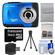 Bell & Howell Splash WP10 Shock & Waterproof Digital Camera (Blue) with 16GB Card/Reader + Case + Tripod + Accessory Kit