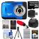 Bell & Howell Splash WP10 Shock & Waterproof Digital Camera (Blue) with 16GB Card/Reader + Case + Batteries/Charger + Tripod + Accessory Kit