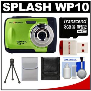 Bell & Howell Splash WP10 Shock & Waterproof Digital Camera (Green) with 8GB Card/Reader + Case + Tripod + Accessory Kit