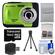 Bell & Howell Splash WP10 Shock & Waterproof Digital Camera (Green) with 16GB Card/Reader + Case + Tripod + Accessory Kit