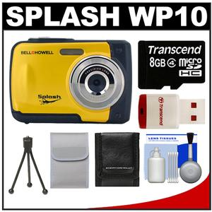 Bell & Howell Splash WP10 Shock & Waterproof Digital Camera (Yellow) with 8GB Card/Reader + Case + Tripod + Accessory Kit