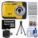 Bell & Howell Splash WP10 Shock & Waterproof Digital Camera (Yellow) with 16GB Card/Reader + Case + Tripod + Accessory Kit