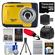 Bell & Howell Splash WP10 Shock & Waterproof Digital Camera (Yellow) with 16GB Card/Reader + Case + Batteries/Charger + Tripod + Accessory Kit