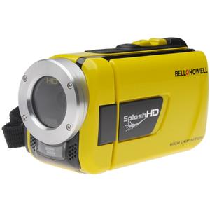Image of Bell & Howell Splash HD WV30 Waterproof Digital Video Camera Camcorder (Yellow) with Built-in LED Light