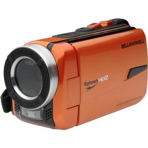 Bell and Howell Splash HD WV50 Waterproof Digital Video Camera Camcorder-Orange-with Built-in LED Light
