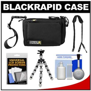 BlackRapid SNAPR 20 3-in-1 Compact Digital Camera Bag Sling & Hand Straps with Flex Tripod + Accessory Kit