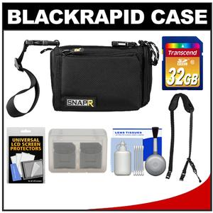 BlackRapid SNAPR 20 3-in-1 Compact Digital Camera Bag Sling & Hand Straps with 32GB SD Card + Accessory Kit