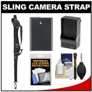 BlackRapid RS-Sport-2 Extreme Sport Slim Camera Strap with EN-EL14 Battery & Charger + Accessory Kit for Nikon D3100, D3200, D5100, D5200