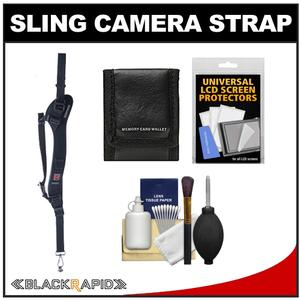 BlackRapid RS-Sport-2L Extreme Sport Slim Camera Strap-Left Handed-with Cleaning and Accessory Kit