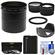 Bower AFZP200 Conversion Adapter Tube for Panasonic Lumix DMC-FZ200 Camera (67mm) with 2.5x Tele & .45x Wide Lenses + 3 Filters + DMW-BLC12 Battery + Hood Kit