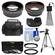 Bower FA-DC67A Adapter Ring for Canon PowerShot SX530, SX540 & SX60 HS Camera (67mm) with .45x Wide Angle & 2x Telephoto Lenses + 3 UV/ND8/CPL Filter Set + Hood + Case Kit