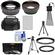 Bower FA-DC67A Adapter Ring for Canon PowerShot SX60 HS Camera (67mm) with .45x Wide Angle & 2x Telephoto Lenses + Filters + NB-10L Battery + Tripod + Case Kit