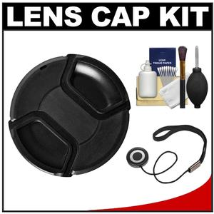 Bower 55mm Pro Series II Snap-on Front Lens Cap with Accessory Kit