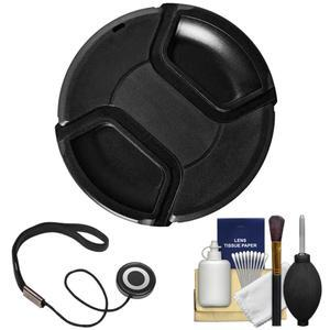 Bower 49mm Pro Series II Snap-on Front Lens Cap with Accessory Kit