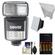Bower SFD970 2-in-1 Power Zoom Flash & LED Video Light (for Nikon i-TTL) with Batteries & Charger + Diffuser + Bounce Reflector + Accessory Kit