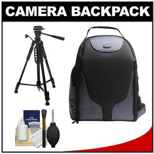 Bower SCB1350 Photo Pack Backpack Case-Black-with Deluxe Photo-Video Tripod and Accessory Kit