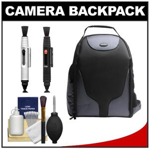 Bower SCB1350 Photo Pack Backpack Case-Black-with Complete Cleaning Kit