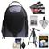 Bower SCB1350 Photo Pack Backpack Case (Black) with Deluxe Photo/Video Tripod + Cleaning Kit