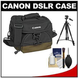 Canon 100EG Digital SLR Camera Case-Gadget Bag with 58 inch Photo-Video Tripod