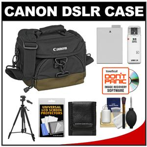 Canon 100EG Digital SLR Camera Case-Gadget Bag with LP-E8 Battery and Tripod and Accessory Kit