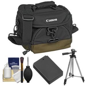 Canon 100EG Digital SLR Camera Case-Gadget Bag with LP-E12 Battery and Tripod and Accessory Kit