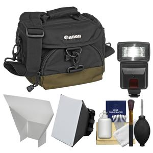Canon 100EG Digital SLR Camera Case-Gadget Bag with Flash and Soft Box and Reflector and Kit