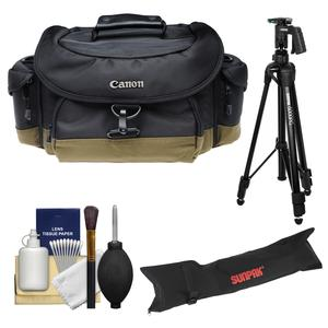 Canon 10EG Deluxe Digital SLR Camera Case-Gadget Bag with Tripod and Case and Kit