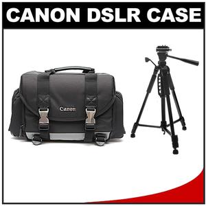 Canon 200DG Digital SLR Camera Case-Gadget Bag with 58 inch Photo-Video Tripod Kit