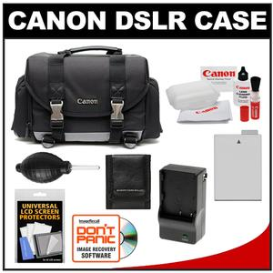 Canon 200DG Digital SLR Camera Case - Gadget Bag with LP-E8 Battery & Charger + Accessory Kit