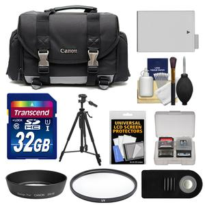 Canon 200DG Digital SLR Camera Case-Gadget Bag with 32GB Card and LP-E8 Battery and Lens Hood and Remote and Filter and Tripod and Accessory Kit