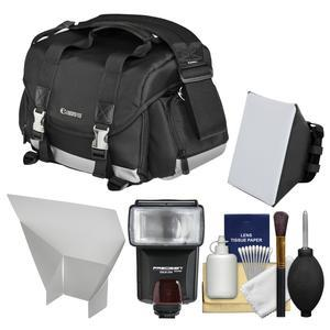 Canon 200DG Digital SLR Camera Case-Gadget Bag with Flash and Soft Box and Reflector and Kit
