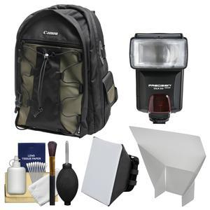 Buy Now Canon 200EG Deluxe Digital SLR Camera Backpack Case with Flash + Soft Box + Reflector + Kit Before Too Late