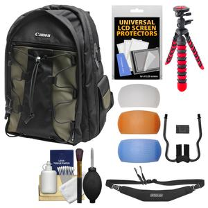 Canon 200EG Deluxe Digital SLR Camera Backpack Case with Flex Tripod and Sling Strap and Flash Diffusers and Kit