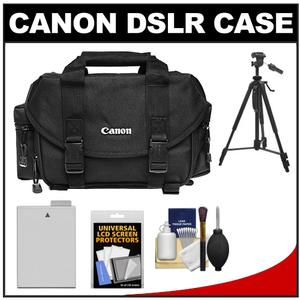 Canon 2400 Digital SLR Camera Case-Gadget Bag with LP-E8 Battery and Tripod and Accessory Kit
