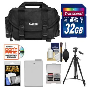 Canon 2400 Digital SLR Camera Case-Gadget Bag with 32GB Card and LP-E8 Battery and Tripod and Accessory Kit