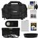 Canon 2400 Digital SLR Camera Case - Gadget Bag with 3 UV/CPL/ND8 Filters + LP-E8 Battery + Remote + Hood + Accessory Kit