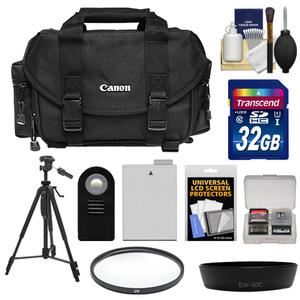 Canon 2400 Digital SLR Camera Case-Gadget Bag with 32GB Card and LP-E8 Battery and Lens Hood and Remote and Filter and Tripod and Accessory Kit