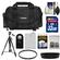 Canon 2400 Digital SLR Camera Case - Gadget Bag with 32GB Card + LP-E8 Battery + Lens Hood + Remote + Filter + Tripod + Accessory Kit