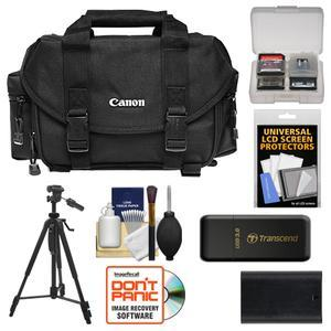 Canon 2400 Digital SLR Camera Case-Gadget Bag with LP-E6 Battery and Tripod and Accessory Kit