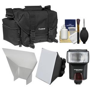Canon 2400 Digital SLR Camera Case-Gadget Bag with Flash and Soft Box and Reflector and Kit