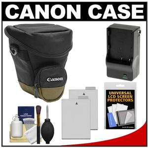 Canon Zoom Pack 1000 Digital SLR Camera Holster Case with-2-LP-E8 Batteries and Charger and Accessory Kit