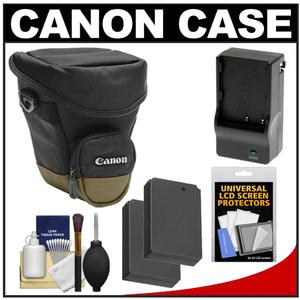 Canon Zoom Pack 1000 Digital SLR Camera Holster Case with - 2 - LP-E12 Batteries + Charger + Accessory Kit