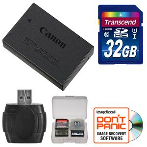 Canon LP-E17 Rechargeable Battery Pack with 32GB Card + Reader + Kit for EOS 77D M3 M5 M6 Rebel T6i T6s T7i Cameras