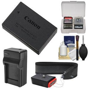 Canon LP-E17 Rechargeable Battery Pack with Charger + Camera Strap + Kit for EOS 77D M3 M5 M6 Rebel T6i T6s T7i Cameras